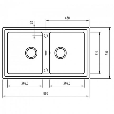 Кухонная мойка Teka STONE 90 B-TG 2B (115260002) песочный