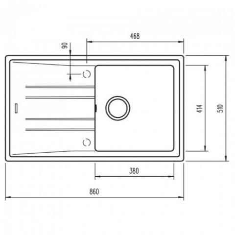 Кухонная мойка Teka STONE 50 B-TG 1B 1D (115330016) песочный