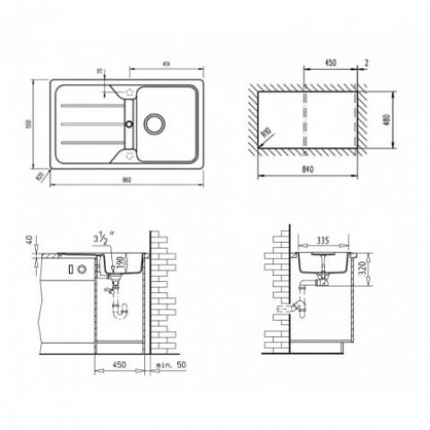 Кухонная мойка Teka SIMPLA 45-S TG (40144523) карбон
