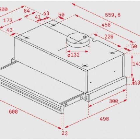 Вытяжка кухонная Teka WISH Total CNL 6415 PLUS (40436821) белое стекло