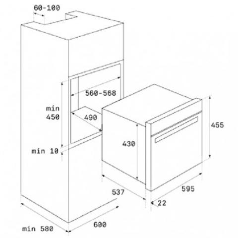 Электрический духовой шкаф Teka WISH Maestro HLC 847 C (40587601) черное стекло / нержавеющая сталь