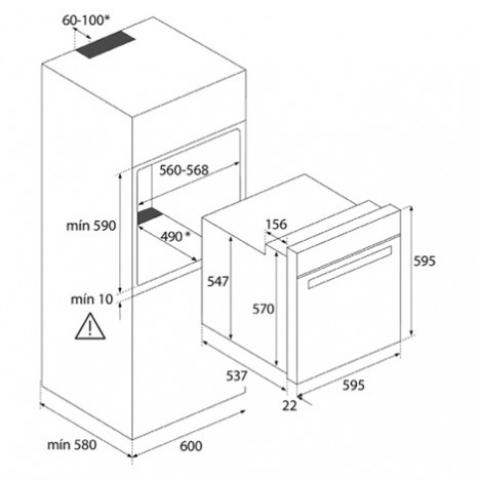 Электрический духовой шкаф Teka WISH Easy HBB 725 (41560190) нержавеющая сталь