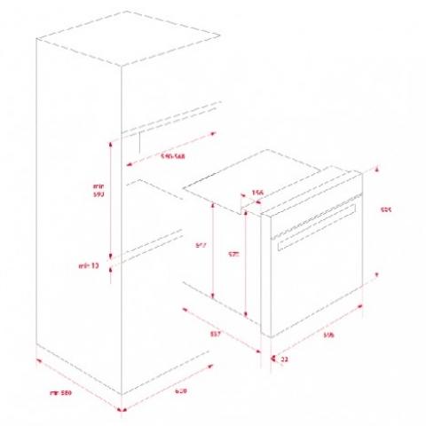Электрический духовой шкаф Teka WISH Maestro HLB 860 P (41566020) пиролиз
