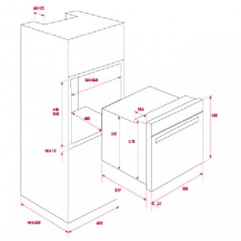 Электрический духовой шкаф Teka WISH Total HSB 630 P (41566051) белый пиролиз