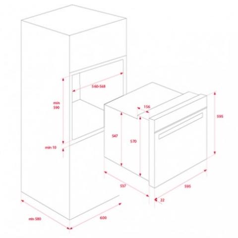 Электрический духовой шкаф Teka WISH Total HSB 630 P (41566050)