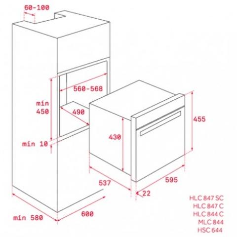 Электрический духовой шкаф Teka WISH Total HSC 644 C (40587603) нержавеющая сталь