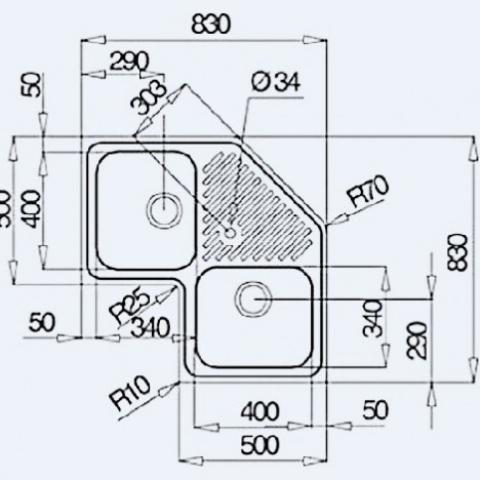 Кухонная мойка Teka Classic Angular 2B (10118007) микротекстура